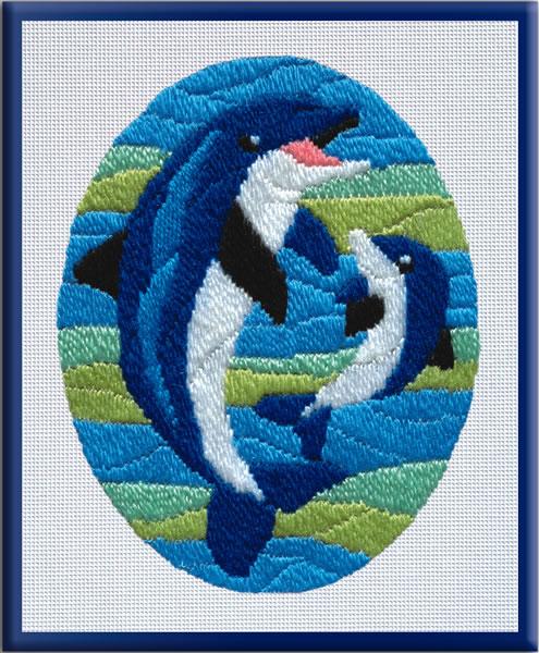 Вышивка крестом Дельфины Всё о вышивке