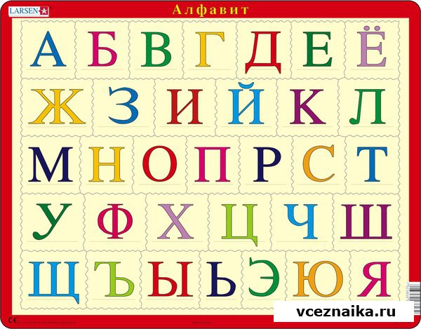 русский алфавит смотреть фото